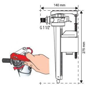 заливной клапан для унитаза из латуни